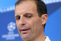 November 21, 2017 - Turin, Piedmont, Italy - Massimiliano Allegri, head coach of Juventus FC, speaks during the Juventus FC press conference on the eve of the UEFA Champions League (Group D) match between Juventus FC and FC Barcelona at Allianz Stadium on 21 November, 2017 in Turin, Italy. (Credit Image: © Massimiliano Ferraro/NurPhoto via ZUMA Press)