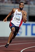 Aug 28, 2007; Osaka, JAPAN; Tyson Gay wins 200m quarterfinal in 20.08 in the 11th IAAF World Championships at Nagai Stadium.