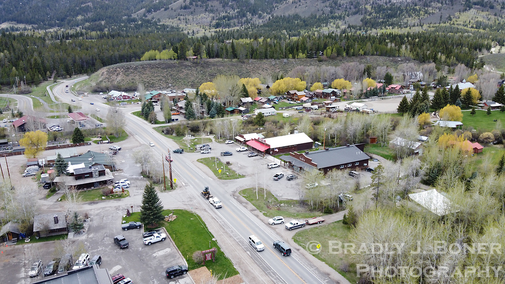 Aerial photograph of Wilson, Wyoming