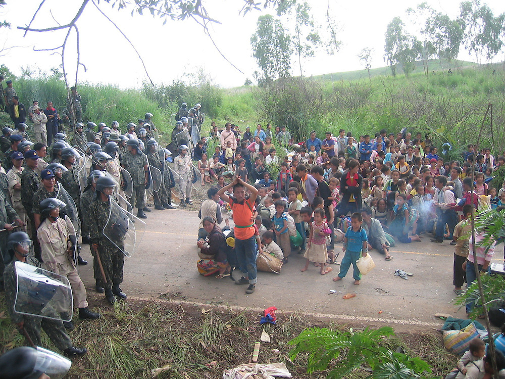Hmong protest forced repatriations and burn down half of Petchabun refugee camp.  The tried to march to Bangkok but were stopped by police.