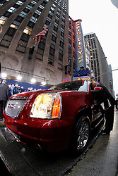 GM SUV's drop off Draft Prospects before the first round of the NFL Draft on April 26th 2012 at Radio City Music Hall in New York, New York. (AP Photo/Brian Garfinkel)
