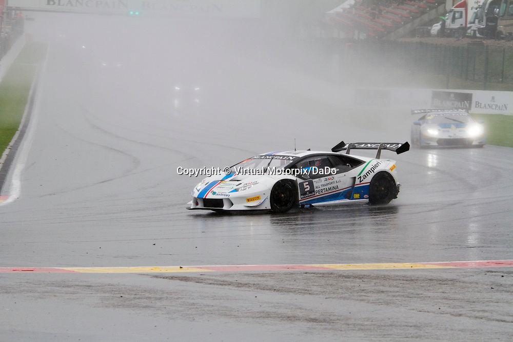 #5, Lamborghini Huracán, Antonelli Motorsport (ANT), D.Zampieri/R.Mavlanov, Lamborghini BlancPain Super Trofeo 2015