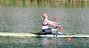 Lucerne, SWITZERLAND.  Women's Single Scull Semi-Final, GBR. W1X. Rachel GAMBLE-FLINT. finish area. 2012 FISA Olympic Qualifying Regatta on the Rotsee Rowing Course,  Tuesday  22/05/2012  [Mandatory Credit Peter Spurrier/ Intersport Images]
