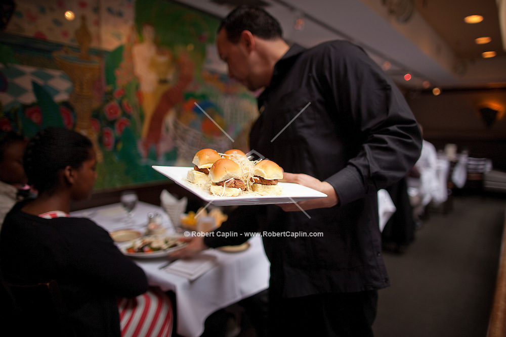 Victor's Café, a Cuban restaurant in New York's Theater District...Photo by Robert Caplin...