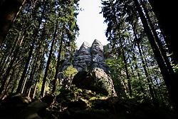 CZECH REPUBLIC VYSOCINA APR09 - Ctyri Palice rock formation in the nature reserve of Zdarske Vrchy, Vysocina, Czech Republic...jre/Photo by Jiri Rezac..© Jiri Rezac 2009
