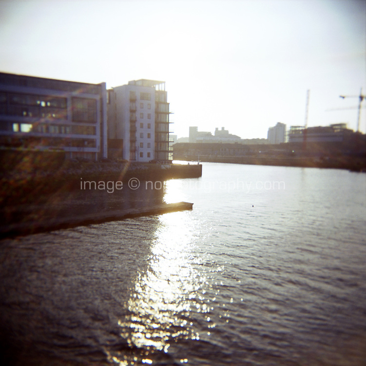 Grand Canal Docks at the River Liffey docklands in Dublin Ireland