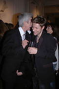 RICHARD BUCKLEY AND CHRISTOPHER BAILEY. A photo exhibition in support of Facing the World <br />Hosts: Christopher Bailey with Eliane Fattal, Yasmin Mills, Emily Oppenheimer Turner, Catherine Prevost and Elizabeth Saltzman Walker.  Burberry, 18 - 22 Haymarket, SW1  .  9 November 2005. ONE TIME USE ONLY - DO NOT ARCHIVE © Copyright Photograph by Dafydd Jones 66 Stockwell Park Rd. London SW9 0DA Tel 020 7733 0108 www.dafjones.com