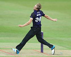 Craig Miles of Gloucestershire bowls  - Photo mandatory by-line: Dougie Allward/JMP - Mobile: 07966 386802 - 14/07/2015 - SPORT - Cricket - Cheltenham - Cheltenham College - Natwest T20 Blast
