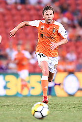 January 18, 2018 - Brisbane, QUEENSLAND, AUSTRALIA - Brett Holman of the Roar (#10) in action during the round seventeen Hyundai A-League match between the Brisbane Roar and the Perth Glory at Suncorp Stadium on January 18, 2018 in Brisbane, Australia. (Credit Image: © Albert Perez via ZUMA Wire)