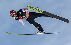 Markus Eisenbichler (GER) soaring through the air during the Trial Round of the Ski Flying Hill Individual Competition at Day 2 of FIS Ski Jumping World Cup Final 2019, on March 22, 2019 in Planica, Slovenia. Photo by Vid Ponikvar / Sportida