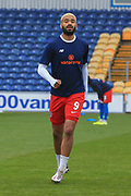 Paul McCallum (9) of Dagenham & Redbridge in the warm up during the The FA Cup match between Mansfield Town and Dagenham and Redbridge at the One Call Stadium, Mansfield, England on 29 November 2020.