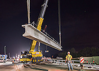 Night photo of US 301 bridge construction in Tampa Florida by Jeffrey Sauers of Commercial Photographics, Architectural Photo Artistry in Washington DC, Virginia to Florida and PA to New England