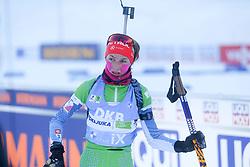 Lena Repinc of Slovenia competes during the IBU World Championships Biathlon Women's 7,5 km Sprint Competition on February 13, 2021 in Pokljuka, Slovenia. Photo by Primoz Lovric / Sportida