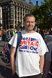 Small number of Brexit supporters at the People's Vote march, London 19 October 2019 UK