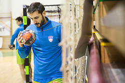 Dragan Gajic of Slovenia during friendly handball match between National Teams of Slovenia and F.Y.R. of Macedonia before EHF EURO 2016 in Poland on January 4, 2015 in Sports hall Krsko, Krsko, Slovenia. Photo by Urban Urbanc / Sportida
