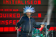 Jamiroquai performs on stage for On Blackheath festival at Blackheath Common on 13th July, 2019 in London, United Kingdom.