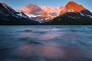 Sunrise on Swiftcurrent Lake, Glacier National Park.