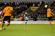 Leandro Bacuna takes a free kick during the Pre-Season Friendly match between Wolverhampton Wanderers and Aston Villa at Molineux, Wolverhampton, England on 28 July 2015. Photo by Alan Franklin.