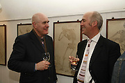 Humphrey Ocean and Charles Saumeraz Smith. Book Launch of ' School of Genius' by James Fenton. Life Room of the Royal academy Schools. Royal academy of arts. London W1. 6 April 2006. ONE TIME USE ONLY - DO NOT ARCHIVE  © Copyright Photograph by Dafydd Jones 66 Stockwell Park Rd. London SW9 0DA Tel 020 7733 0108 www.dafjones.com
