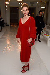 Nell Hudson on the front row during the Jasper Conran London Fashion Week SS18 show held at Claridge's, London. Picture date: Saturday September 16th, 2017. Photo credit should read: Matt Crossick/ EMPICS Entertainment.