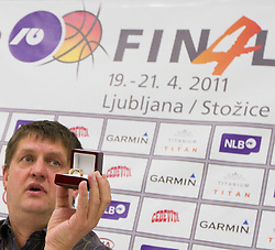 Roman Lisac during press conference of NLB Basketball League one day before NLB Final Four Tournament 2011, on April 18, 2011 in Arena Stozice, Ljubljana, Slovenia.  (Photo By Vid Ponikvar / Sportida.com)