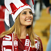 Turkey's supporters during their UEFA Euro 2016 qualification Group A soccer match Turkey betwen Czech Republic at Sukru Saracoglu stadium in Istanbul October 10, 2014. Photo by Aykut AKICI/TURKPIX