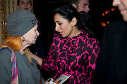 VIVIENNE WESTWOOD; SERENA REES, Launch of Nicky Haslam's book Redeeming Features. Aqua Nueva. 5th floor. 240 Regent St. London W1.  5 November 2009.  *** Local Caption *** -DO NOT ARCHIVE-© Copyright Photograph by Dafydd Jones. 248 Clapham Rd. London SW9 0PZ. Tel 0207 820 0771. www.dafjones.com.<br /> VIVIENNE WESTWOOD; SERENA REES, Launch of Nicky Haslam's book Redeeming Features. Aqua Nueva. 5th floor. 240 Regent St. London W1.  5 November 2009.