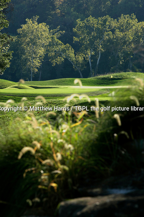 Valhalla during autumn 2007. Venue for the 2008 Ryder Cup Matches between USA and Europe to be staged in September.<br /> Shown here 3rd - par 3.