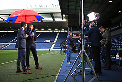 12th May 2017 - Premier League - West Bromwich Albion v Chelsea - Jamie Redknapp (L) and Thierry Henry working as pitchside pundits for Sky Sports television (TV) - Photo: Simon Stacpoole / Offside.