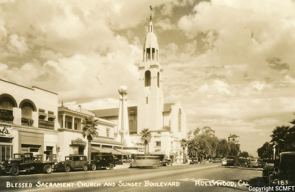 1937 Blessed Sacrament Church on Sunset Blvd.