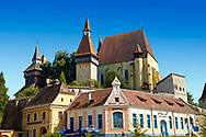 The fortified Saxon churchof Biertan , the see of the Lutheran Evangelical Bishop in Transylvania between 1572 and 1867. Unesco World Heritage Site .<br /> <br /> Visit our ROMANIA HISTORIC PLACXES PHOTO COLLECTIONS for more photos to download or buy as wall art prints https://funkystock.photoshelter.com/gallery-collection/Pictures-Images-of-Romania-Photos-of-Romanian-Historic-Landmark-Sites/C00001TITiQwAdS8<br /> .<br /> Visit our MEDIEVAL PHOTO COLLECTIONS for more   photos  to download or buy as prints https://funkystock.photoshelter.com/gallery-collection/Medieval-Middle-Ages-Historic-Places-Arcaeological-Sites-Pictures-Images-of/C0000B5ZA54_WD0s