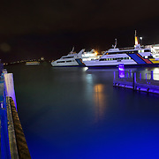 The Ferry Terminal at Auckland Harbour at night time. Auckland, North Island, New Zealand, 25th November 2010. Photo Tim Clayton