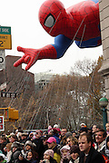 25 November 2010- New York, NY- Spider Man Balloon at The Macy's 84th Annual Thanksgiving Day Parade held along Central Park West on the UpperWest Side of New York City on November 25, 2010 in New York City. Photo Credit: Terrence Jennings
