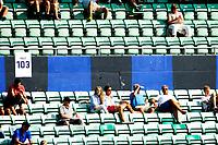 Fotball , Adeccoligaen , 1. Divisjon menn ,  Fredag 6. juli 2013 , Nadderud Stadion ,<br /> Stabæk - Vard Haugesund<br /> Glissent på hovedtribuna på Nadderud , god plass mellom publikum<br /> Foto: Sjur Stølen