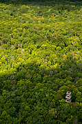 Aerial photograph of the Parnell Tower and Kettle Moraine State Forest, Sheboygan County, Wisconsin, USA.