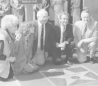 1985 Joel Grey's Walk of Fame ceremony with Jennifer Grey