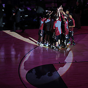 The South Carolina team embrace before tip off during the St. John's vs South Carolina Men's College Basketball game in the Hall of Fame Shootout Tournament at Mohegan Sun Arena, Uncasville, Connecticut, USA. 22nd December 2015. Photo Tim Clayton