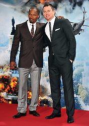 Jamie Foxx (L) with Channing Tatum (R) attends the 'White House Down' Germany premiere at CineStar on Monday September 2, 2013 in Berlin, Germany. Picture Schneider-Press / John Farr / i-Images.<br /> UK & USA ONLY