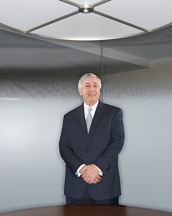 Michael Merlo, Executive Vice President of Signature Bank in his New York office