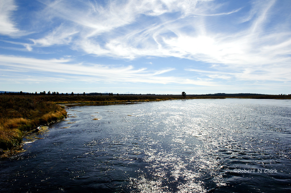 """The Henry's Fork of the Snake River as it flows past the area known as """"Last Chance"""", near Island Park"""