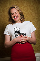 Washington, DC -- Elisabeth Moss stars in the new Hulu show 'The Handmaid's Tale' based on the 1985 book by Margaret Atwood, takes place in a dystopian America where women are enslaved and fertile women are used as breeders for the upper class. Photo by Jack Gruber, USA TODAY