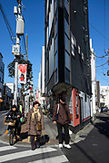 Street life in the Setagaya suburb of Tokyo. Japan