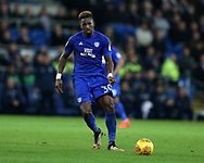 Omar Bogle of Cardiff city.EFL Skybet championship match, Cardiff city v Ipswich Town at the Cardiff city stadium in Cardiff, South Wales on Tuesday 31st October 2017.<br /> pic by Andrew Orchard, Andrew Orchard sports photography.
