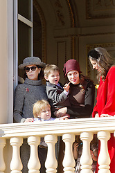 November 19, 2017 - Monte Carlo, MONACO - 19-11-2017 Monaco Princess Caroline of Hanover and Charlotte Casiraghi and Raphael and Sacha Casiraghi and Tatiana Santo Domingo during the Monaco National Day Celebrations in Monaco...© PPE/NieboerCredit: PPE/face to face.- No rights for the Netherlands  (Credit Image: © face to face via ZUMA Press)