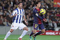 06.01.2013 Barcelona, Spain. La Liga day 18. Picture show Pedro in action during game between FC Barcelona against RCD Espanyol at Camp Nou