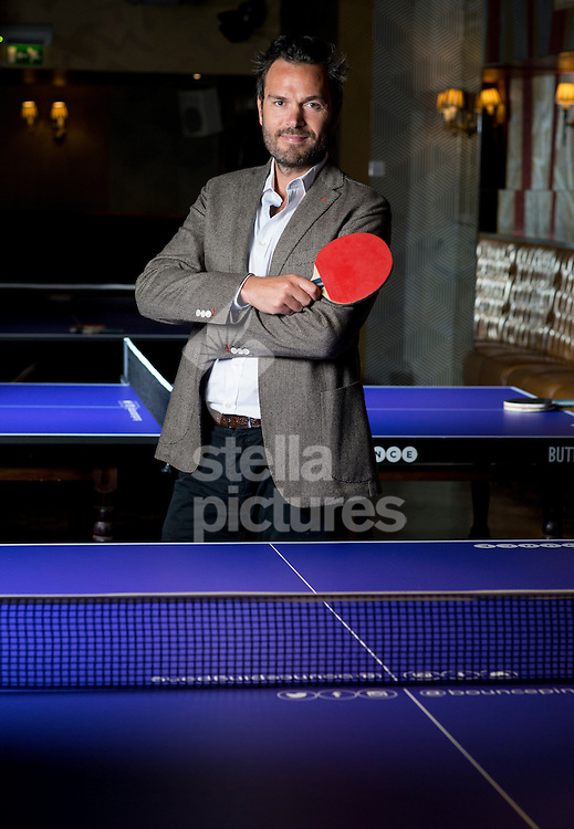 Adam Breeden, CEO of Bounce ping pong club.<br /> Picture by Daniel Hambury/Stella Pictures Ltd +44 7813 022858<br /> 15/06/2015