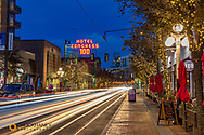 Congress Street at dusk in downtown Tucson, Arizona, USA