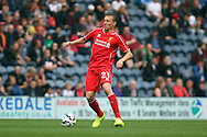 Liverpool's Lucas Leiva in action. Pre-season friendly match, Preston North End v Liverpool at Deepdale in Preston, England on Saturday 19th July 2014.<br /> pic by Chris Stading, Andrew Orchard sports photography.