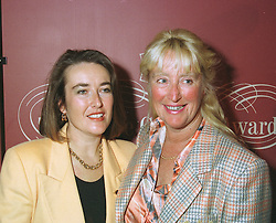 Left to right, NICOLA FOULSTON - Chief Executive of Brands Hatch Leisure PLC, and her mother MRS MARY FOULSTON, at a reception in London on April 16th 1997.LXR 53