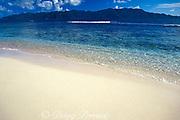 Tortola, as seen from Sandy Cay, British Virgin Islands,<br /> ( Caribbean Sea )
